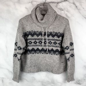 Forever 21 Boxy Crop Chunky Knit Fair Isle Sweater